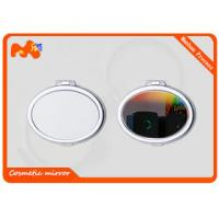 China Travel Cosmetic Sublimation Compact Mirror For Girls Iron Plating wholesale