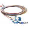 China Bundle LC Fiber Optic Pigtail 12 Color 9/125 Single Mode Simplex High Tensile Strength wholesale
