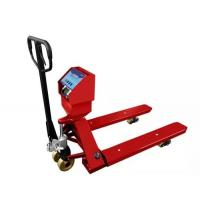 China Red Hand Operated Pallet Truck Scales 1.5T 2T 3T Carbon Steel For Food Industry wholesale