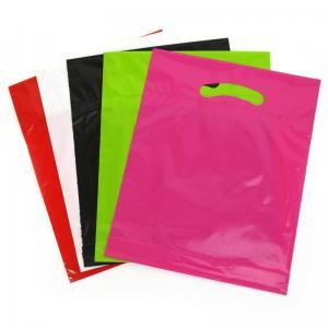 China Cute Garment Die Cut Plastic Bags , Custom Printed Die Cut Handle Bags wholesale