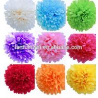 Quality Hot sale Tissue Paper Pom Pom/Colorful Paper flower for sale