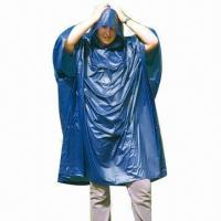 China PVC Adult Rain Poncho, Various Colors and Sizes are Available, Measures 50 x 80 Inches wholesale