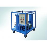 China Carbon Steel Portable Hydraulic Oil Filtration Unit With Electric Control Panel wholesale