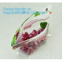 China fruit bag with holes sandwich slider zip deli bag, slider zip bag for fresh fruit packaging, grape bag with hole/ slider wholesale