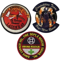 China Heat Transfers Custom Fire Dept Patches 1.1mm Thickness Firefighter Patch wholesale