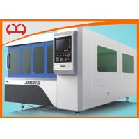 China Enclosed  CNC Fiber Laser Cutter Single Table OEM Service With Grinding Gear on sale