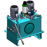 China High Pressure AC380V 4KW Industry Hydraulic Power Units with 2 Motors wholesale