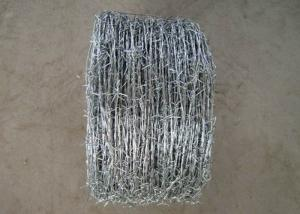 China 12x14# low carbon steel wire galvanied barbed wire for lawn,railways,expressways wholesale