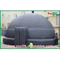 China 6m DIA Black Mobile Inflatable Planetarium Dome Projection Tent With Air Blower wholesale