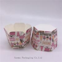 China Personalized Printed Cupcake Wrappers , Greaseproof Square Cupcake Baking Cups Bakery Set wholesale