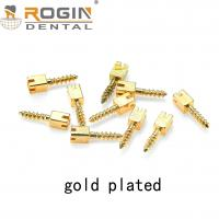 Buy cheap Dental Screw Post 2019 Rogin Medical Golden Plated Screw Post With CE / ISO /FDA from wholesalers
