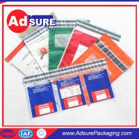 China 9x12 inch Plastic Custom Security Bags/Tamper Evident Bags/Bank Deposit Bags on sale