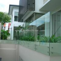 China Customized Glass Decking Standoff Railing with Stainless Steel Handrail wholesale