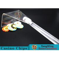 Adjustable Casino Game Accessories Poker Chip Rake Built - In Detachable Design for sale