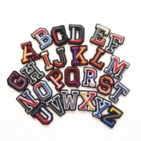 China A - Z English Alphabet Embroidered Iron On Patch For Clothing wholesale