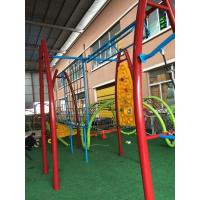 Quality Durable Kids Outdoor Gym Equipment Aluminium Alloy Post With Arch PE Plastic Climber wholesale