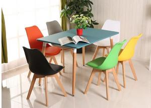 China High Back PVC PU Dining Chair , Modern Leather Dining Chairs Scratch Resistant wholesale
