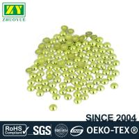 China High Color Accuracy Flat Back Metal Studs Good Stickness With Even Shinning Facets wholesale
