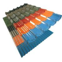 China Painted Corrugated Steel Roofing Sheets on sale
