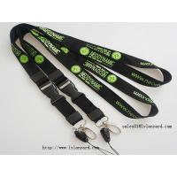 China Business Cheap Logo & Text Words Silk Screen Print Lanyards with Release Buckle wholesale