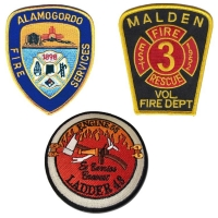 China 120D Polyester Woven Chicago Fire Department Patches 3 Dimensional wholesale