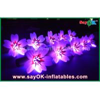 China 5m White Long Ground Nylon Cloth LED Flower Chain Inflatable Light Decoration wholesale
