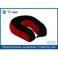China Red And Black Neck Support Memory Foam Pillow U Shaped Travel Pillow For Sleeping wholesale