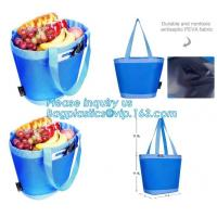 China promotional 16 cans insulated cooler tote bag outdoor picnic lunch freezable bag for camping beach travel bags, bagplast wholesale