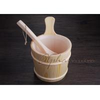 China 3 L Nordic Type spa Bucket With Ladle For Traditional Sauna Room wholesale