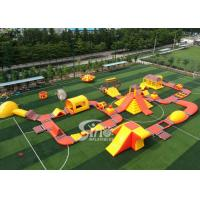 China 42x25m Custom Deisgn Giant Inflatable Floating Water Park With Silk Printing wholesale