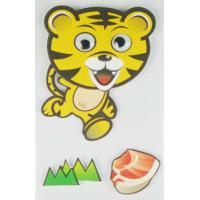 Quality forest animal logo Custom Layered Stickers Movement with cartoon tiger for sale