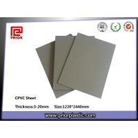 China Grey CPVC sheet with 90°C temperature resistance wholesale