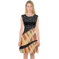 China Knit Jersey Fabric Womens Casual Summer Dresses A Line Midi Dress For Holiday wholesale