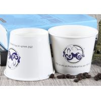 Quality White Branded Ice Cream Cups Biodegradable Hot Soup Cups For Wedding / Party for sale