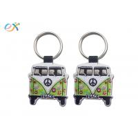 China Twill Background Embroidered Keychain Irregular Shape With Laser Cut wholesale