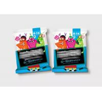 China 3 Side Seal Laminated Flexible Plastic Zipper Bags For Snack Food Colorful Printing wholesale