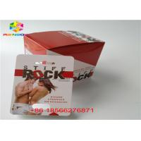 China Sex pill packaging cards and 3D display box Stiff Rox pill blister paper card/capsule packing paper box with double hole on sale