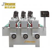 China Three Heads Wood Polishing Machine Quick Unloading For Flat Surface Material wholesale