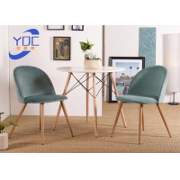 China Restaurant Dining Modern Fabric Chair With Metal / Wooden Legs wholesale