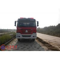 China 6x4 Drive Type Fire Fighting Truck Red Painting With 100W Alarm Control System wholesale