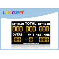 China Waterproof LED Cricket Scoreboard UV Protection Yellow Color 110V ~ 240V wholesale