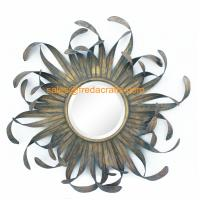 China Direct Factory Price Nice Design Sun Shape Metal Decorated Wall Mirrors wholesale