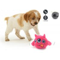 Motion Activated Bouncing Cool Dog Toys , Eco Friendly Plastic Plush Dog Ball for sale