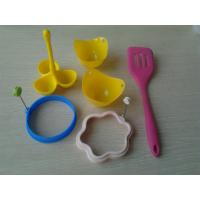 Quality 6pcs Eco Recycled Silicone Baking Set , Sillicon Kitchen Egg Cooking Tool for sale