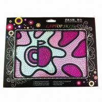 China 2012 new style rhinestone laptop sticker, customized designs and sizes are accepted wholesale