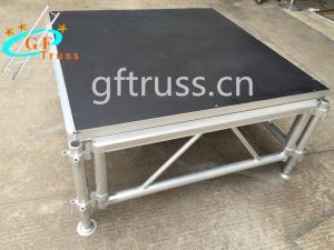China Indoor Plexiglass Portable Aluminum Truss Stage 1.22*1.22M wholesale