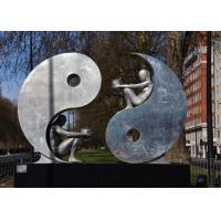 Buy cheap Public Art Modern Stainless Steel Sculpture , Yin And Yang Sculpture For Garden from wholesalers