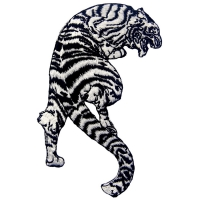 Buy cheap 120D Laser Cut 100% Embroidered Tiger Iron On Patch from wholesalers