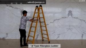 China A Type 1.37m 2X5 Fiberglass Telescopic Ladder wholesale