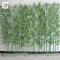 China UVG wholesale decorative artificial lucky bamboo in silk and plastic leaves for indoor decoration PLT19 wholesale